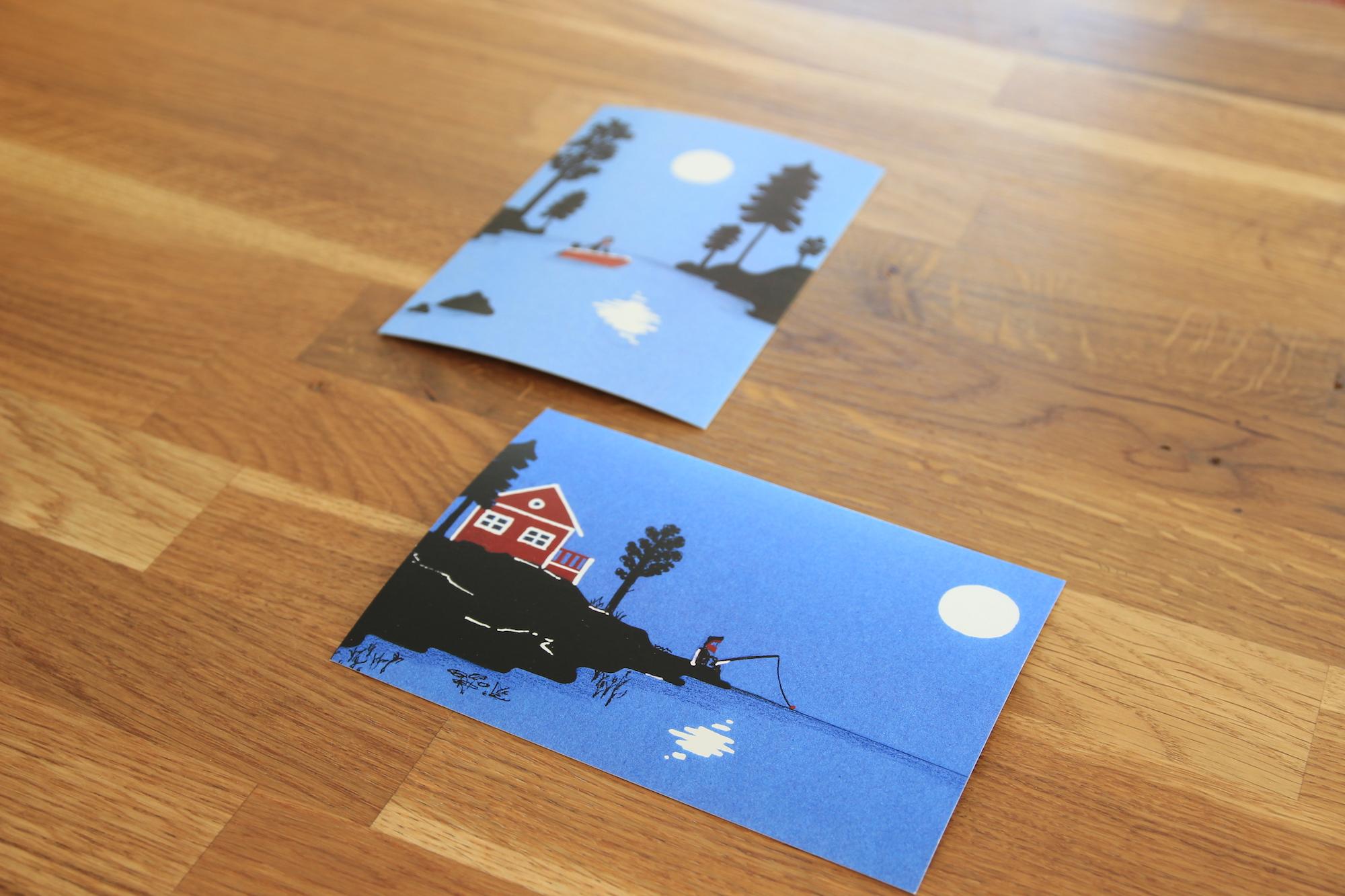 Postkarte Skandinavien
