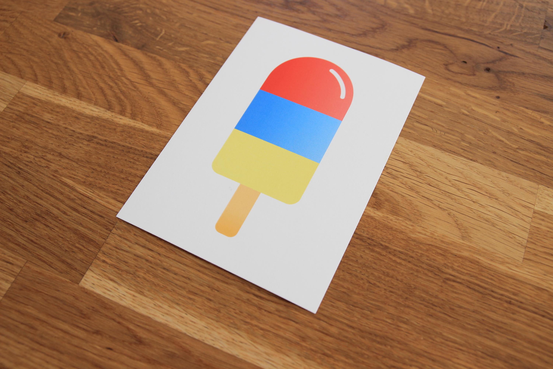Postkarte Eis