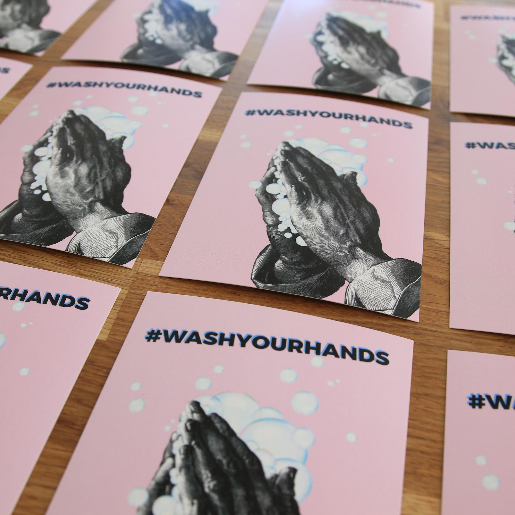 Postkarte #washyourhands