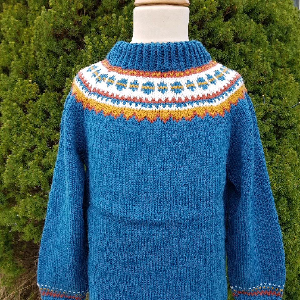 Genser Ludvik  strikket i Smart