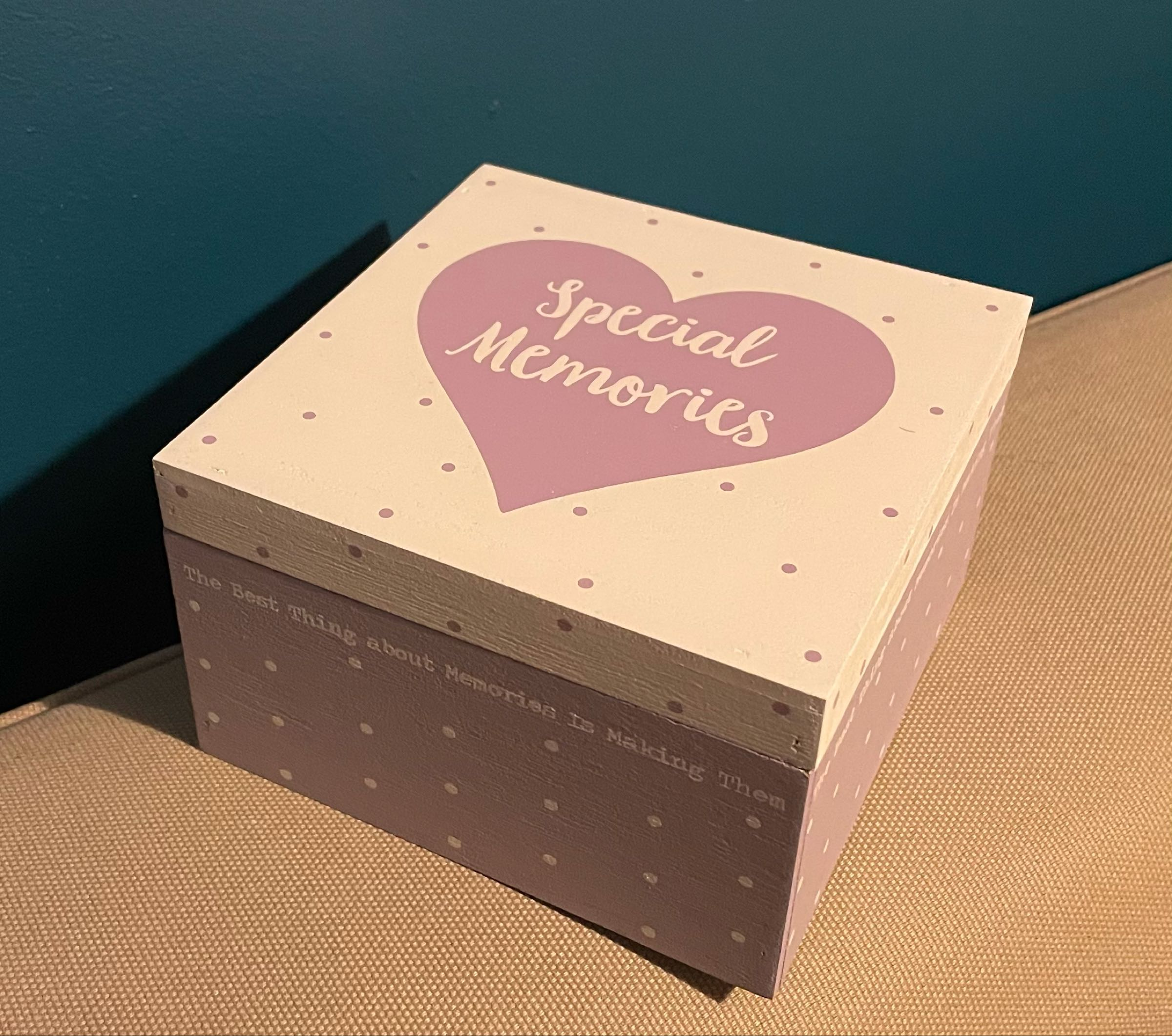 Special Memories Box (can be engraved)
