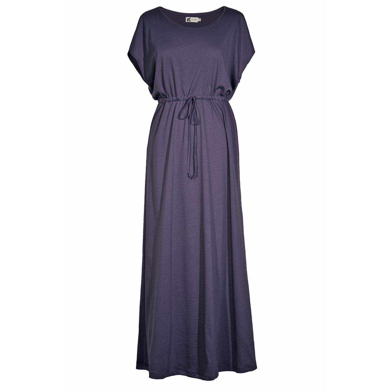 Lang kjole med bindebånd