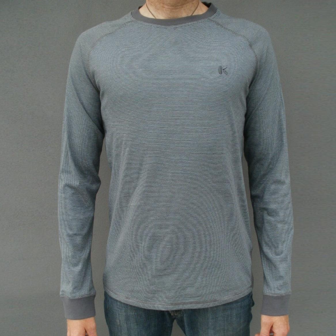 Langærmet t-shirt med striber