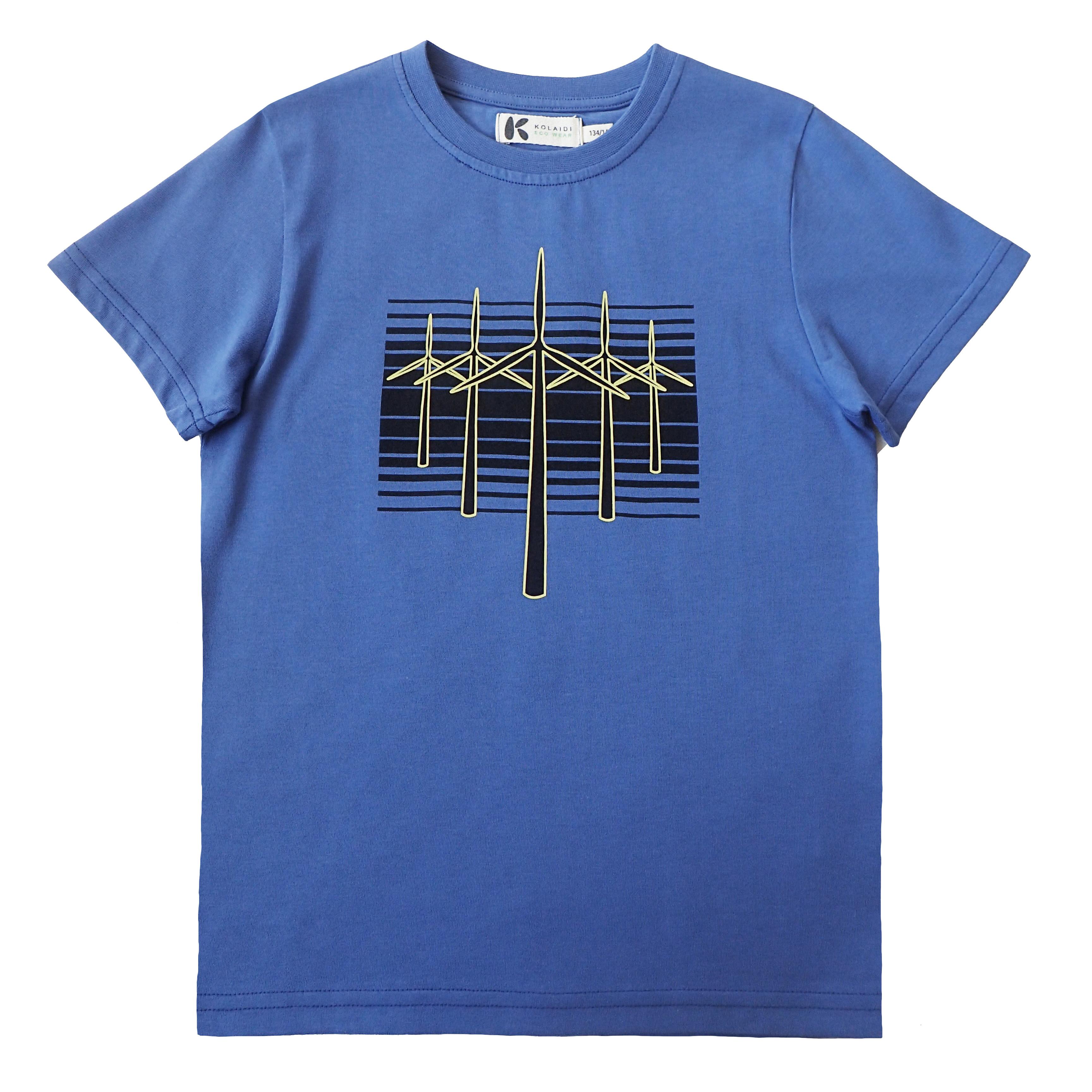 Drenge T-shirt med vindmøller