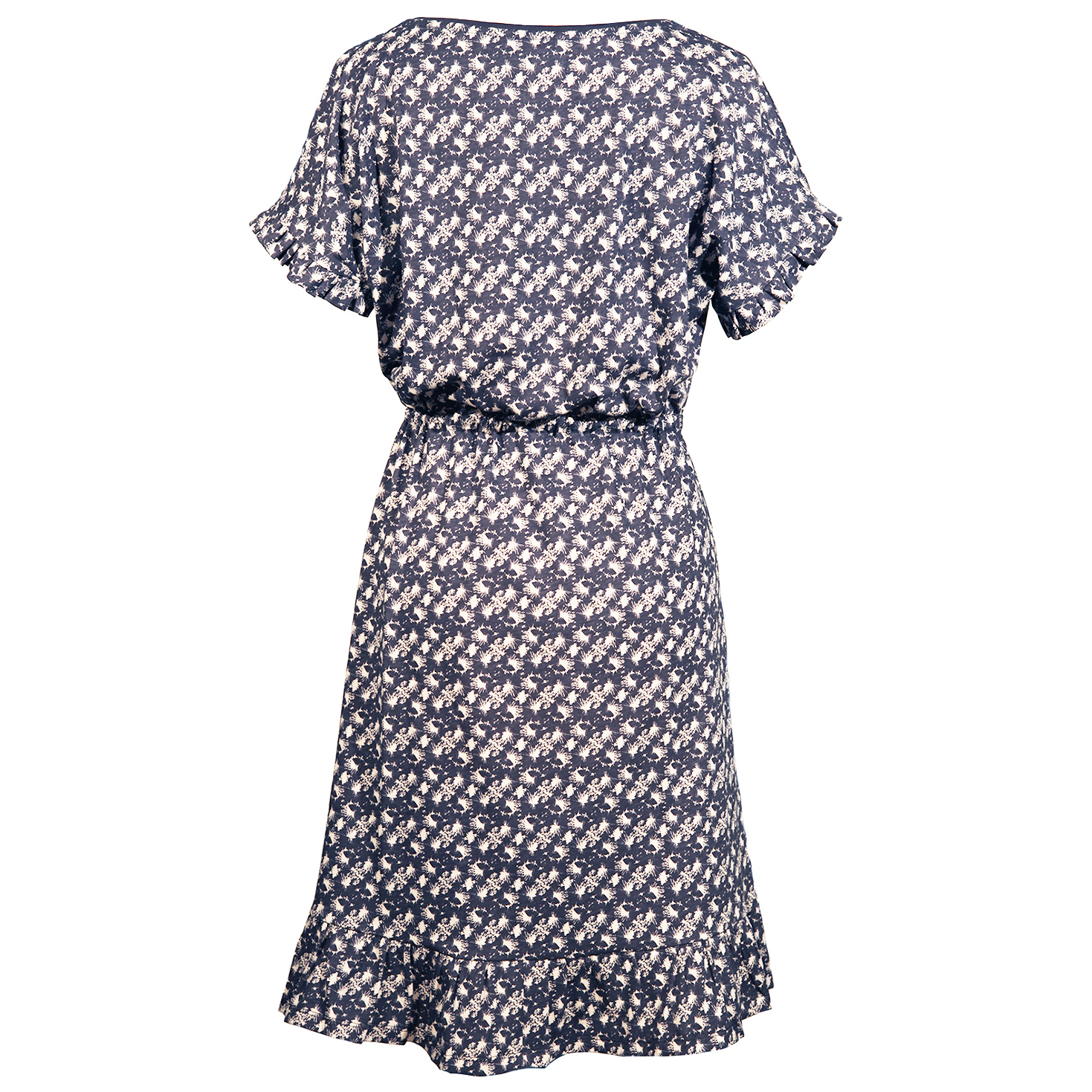 Printet kjole med bindebånd i taljen