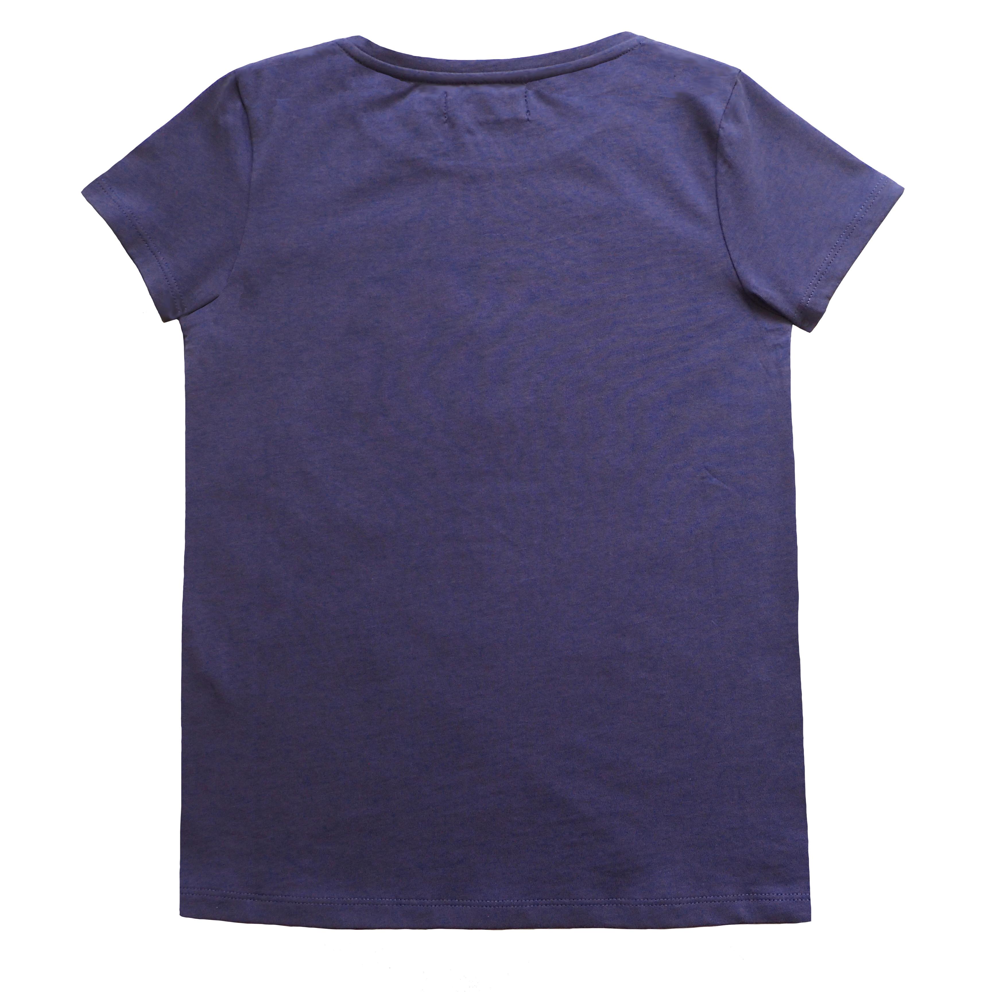 Pige T-shirt med broderi