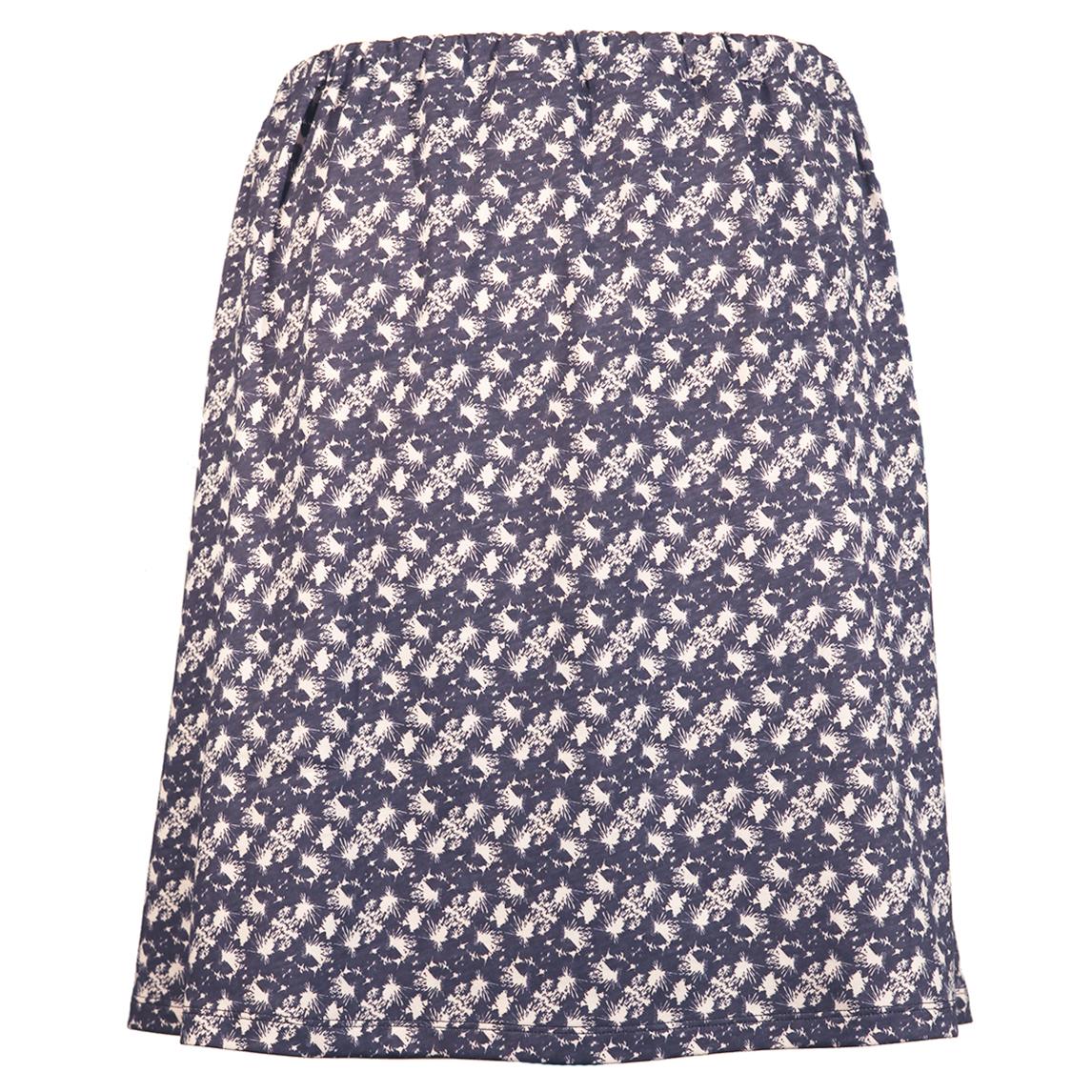 Printet nederdel med elastik i taljen