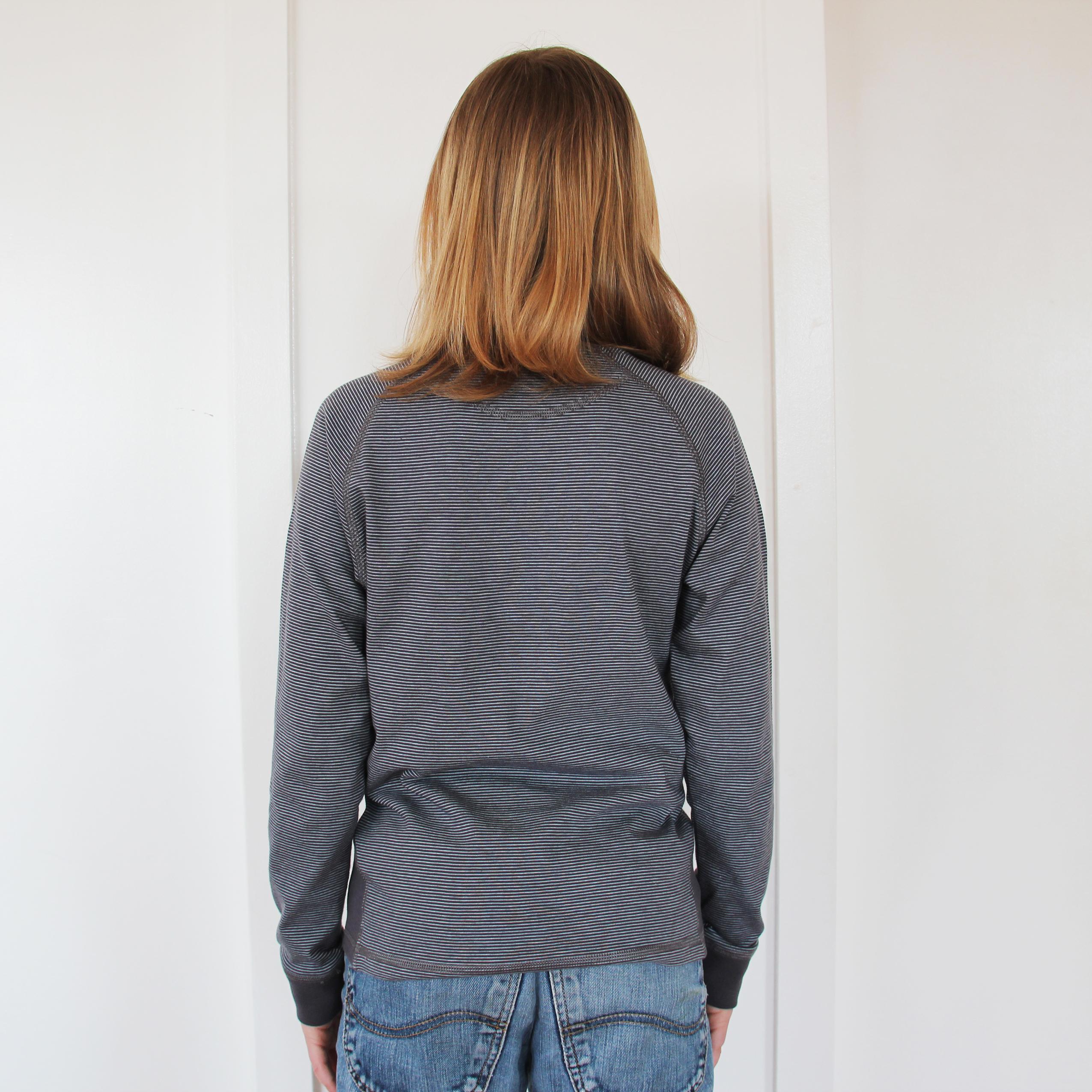 Langærmet drenge T-shirt med striber