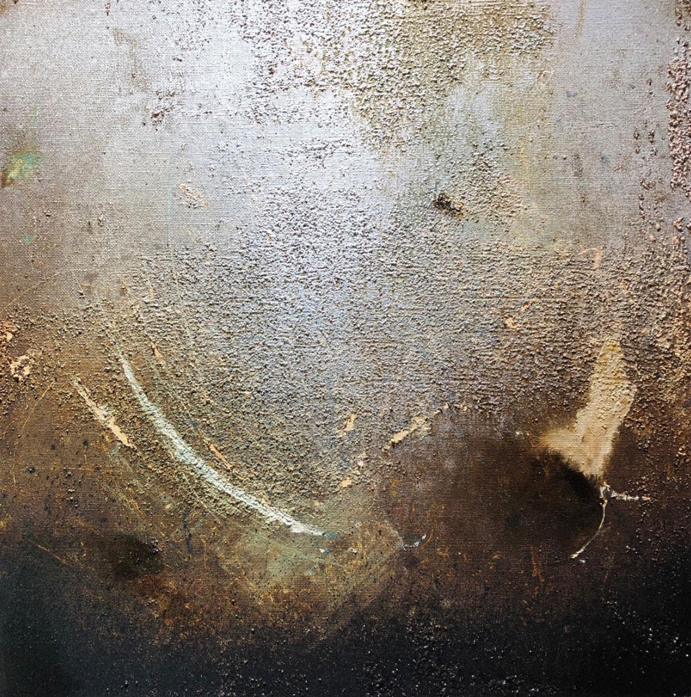 Original - Av vad som finns kvar II - 50x50cm linneduk
