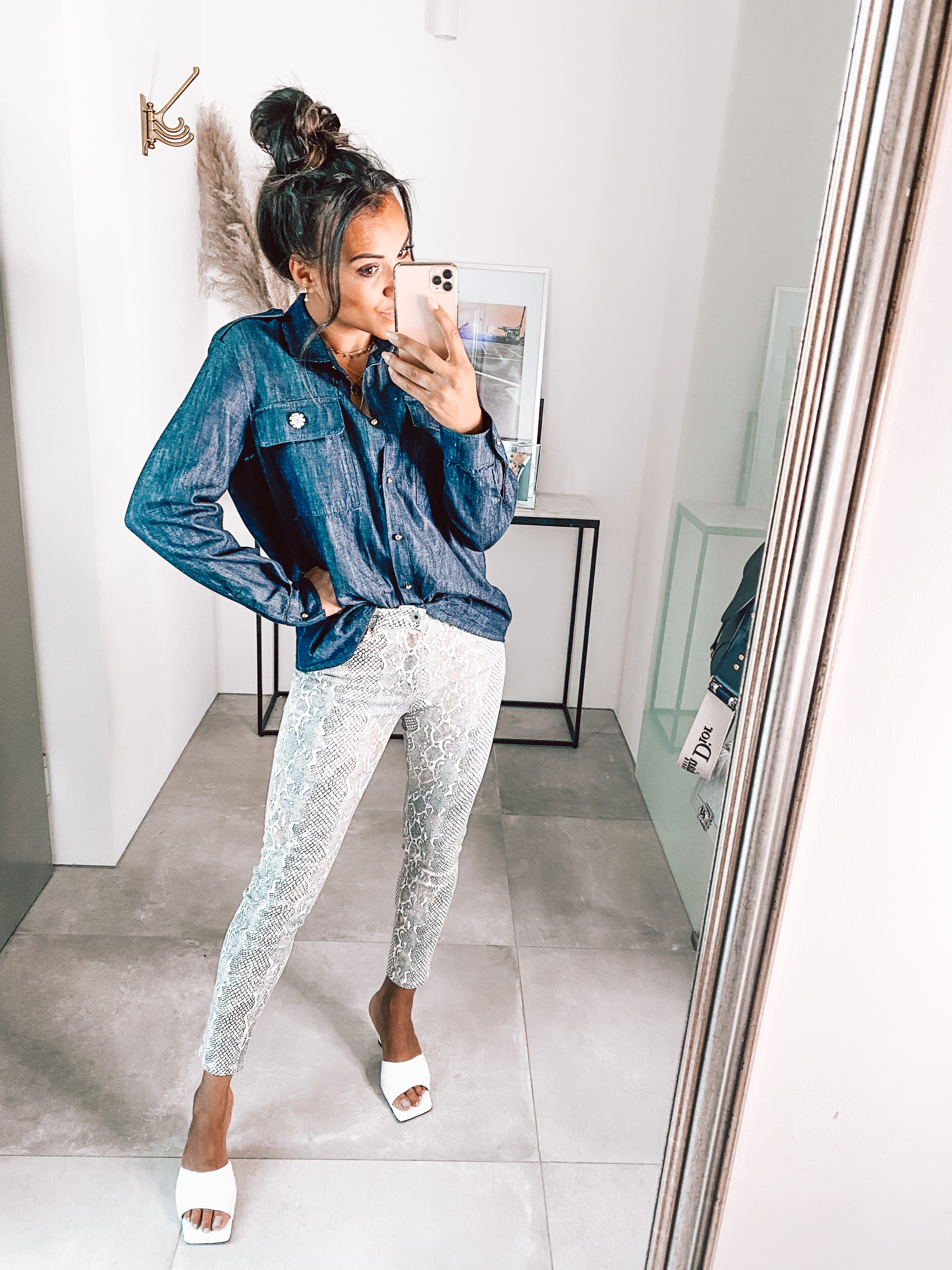 Jeans Snake Print hell