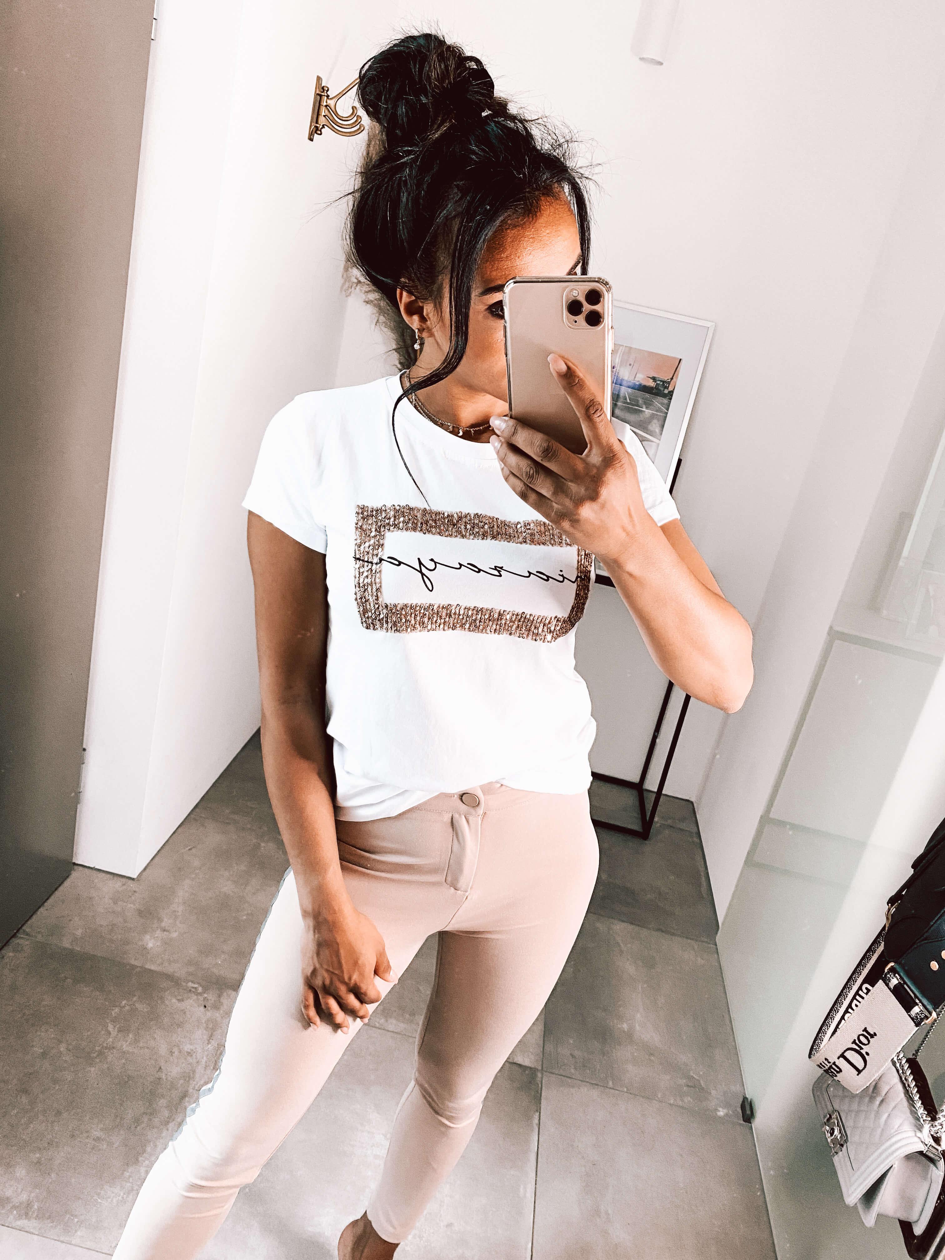 MiaZAYA Shirt Pailletten