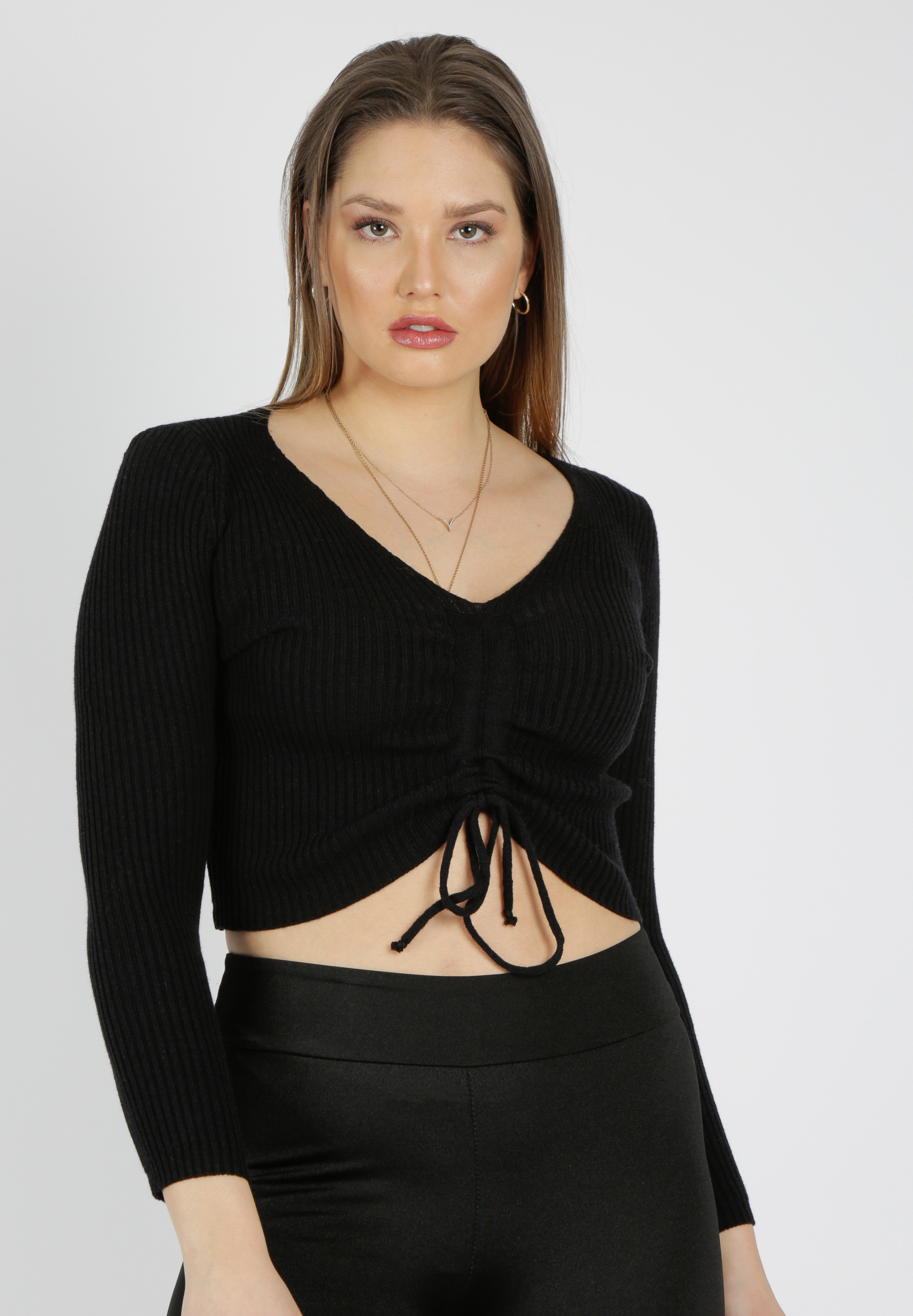 MiaZAYA Pullover gerafft