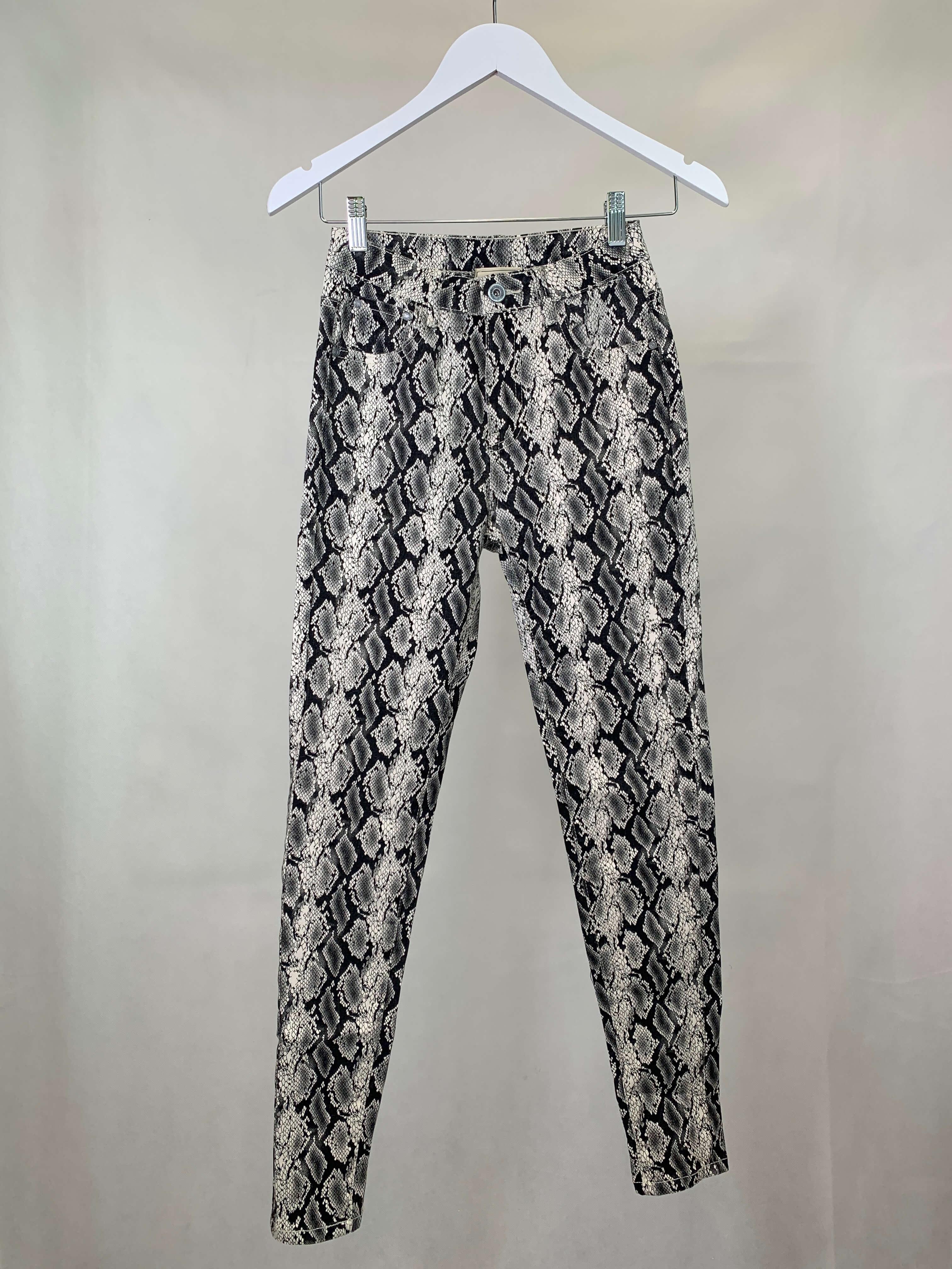Jeans Snake Print dunkel