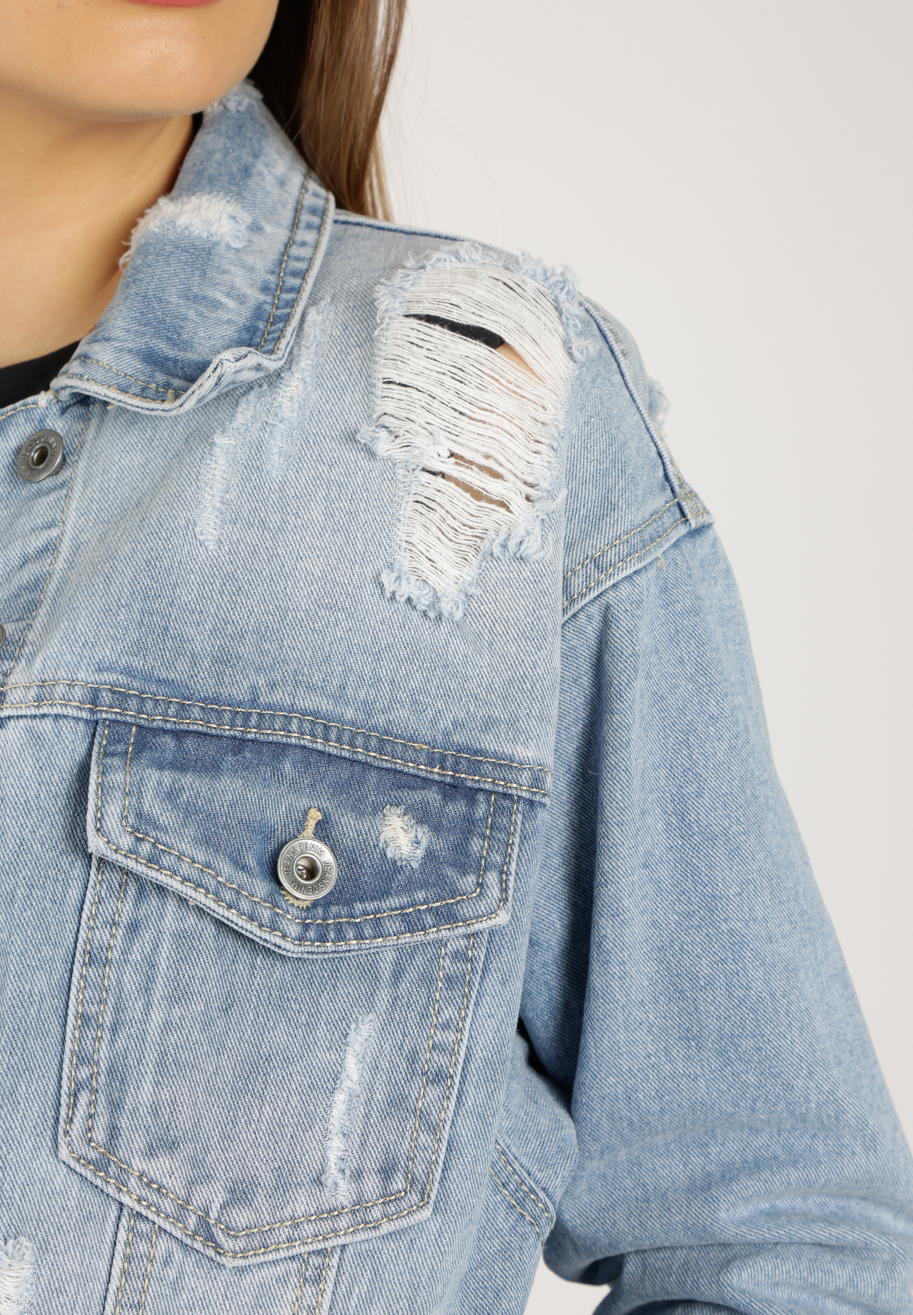 Destroyed Jeans Jacke