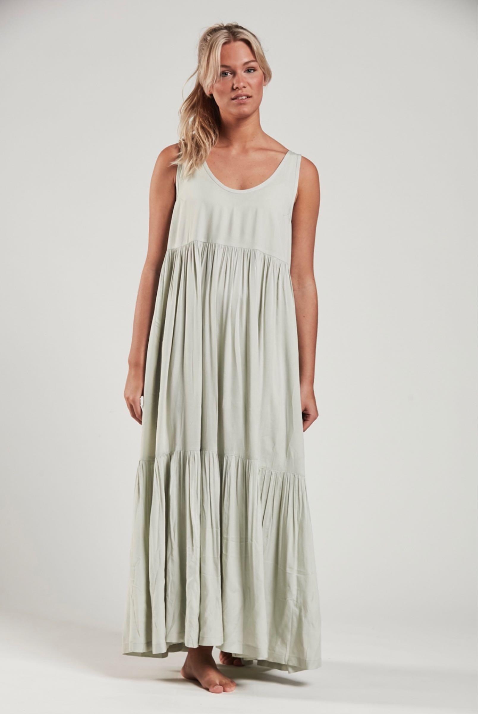 Ajlajk långklänning, Milky  green