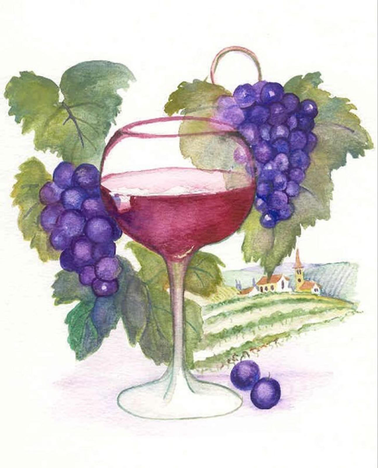 'Fruit of the Vine' Furzedown Gallery Mini Card