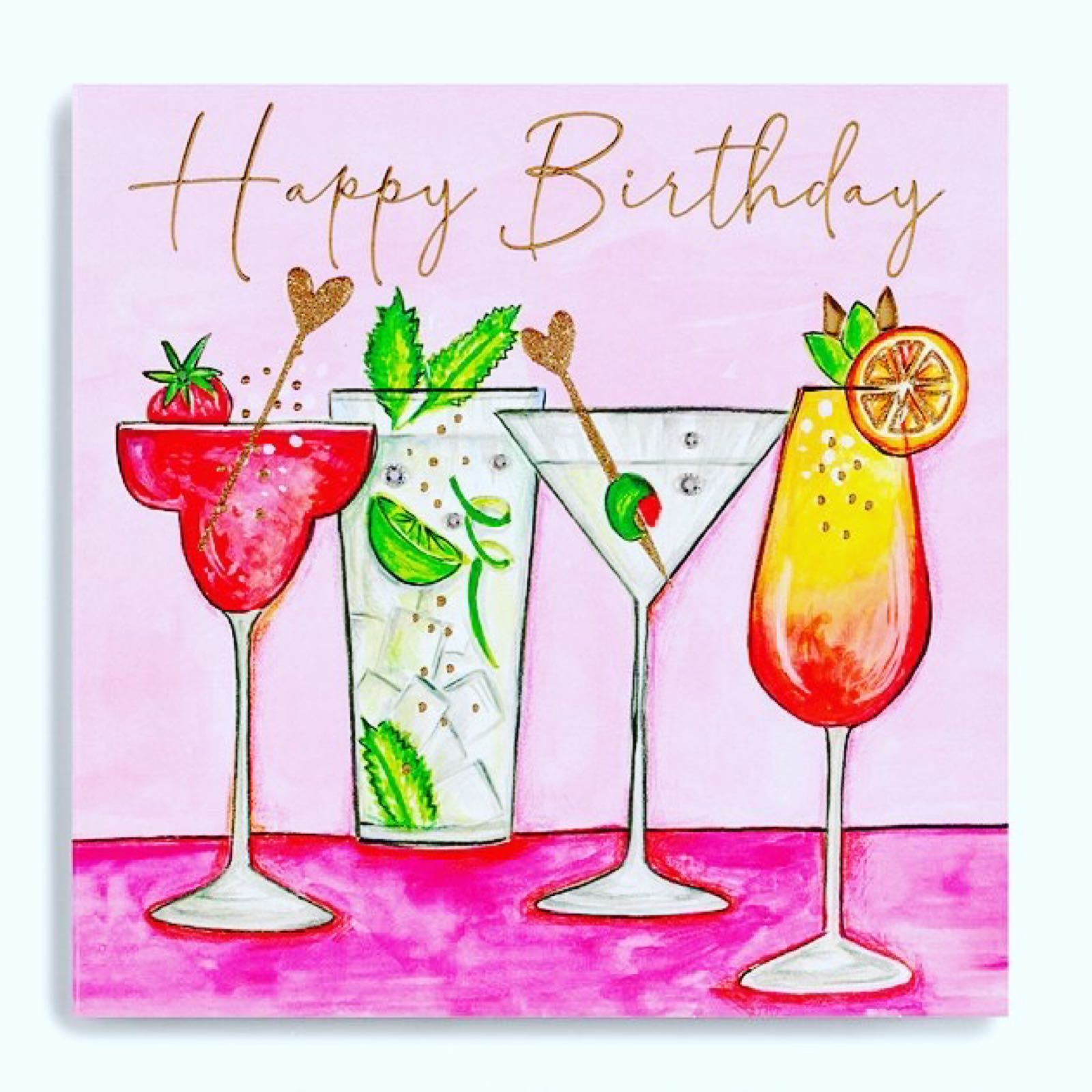 Janie Wilson Cocktails birthday card