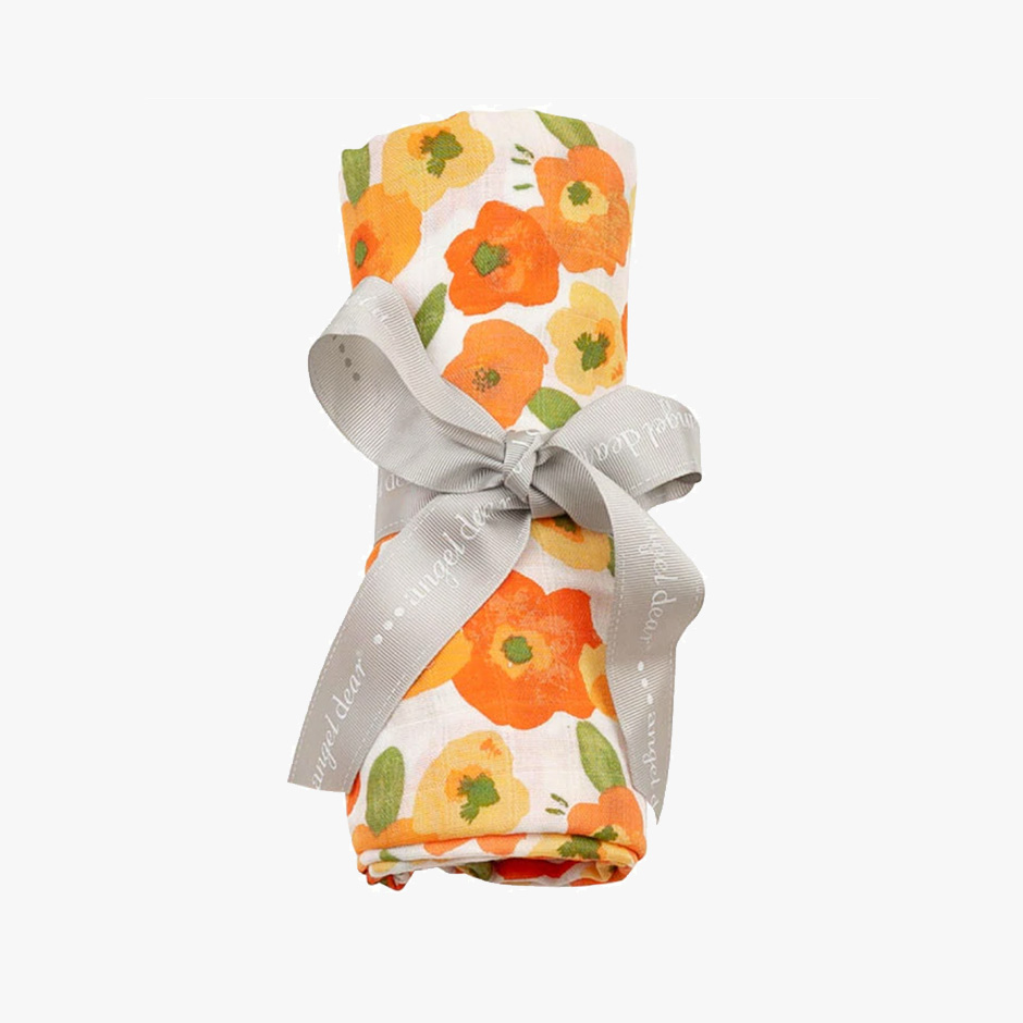 Angel Dear - Poppy Muslin Swaddle Blanket