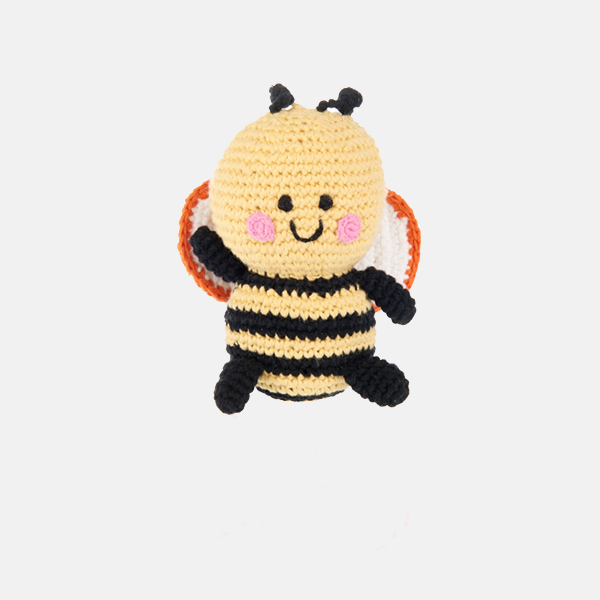 Pebble - Fair Trade Crochet Bee Rattle