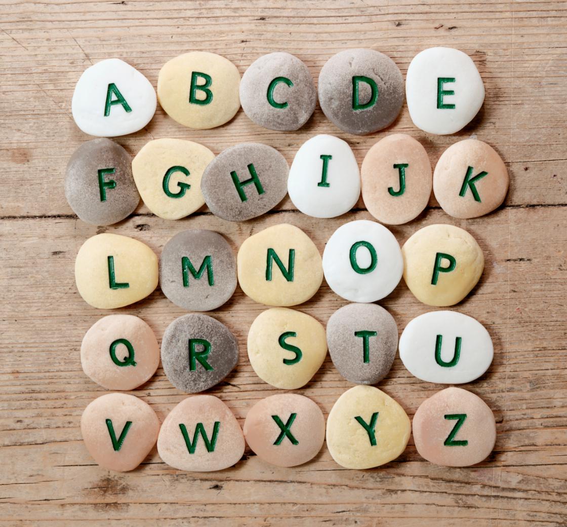 Yellow Door - Alphabet Pebbles