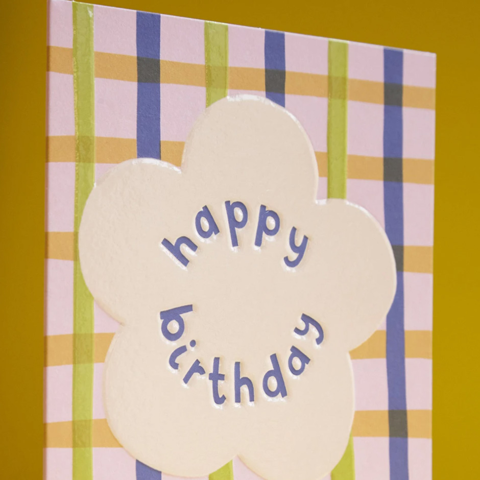Raspberry Blossom - Happy Birthday Card