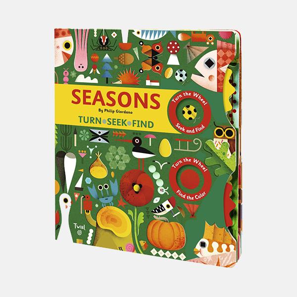 Seasons Turn, Seek, Find - Hardback Book