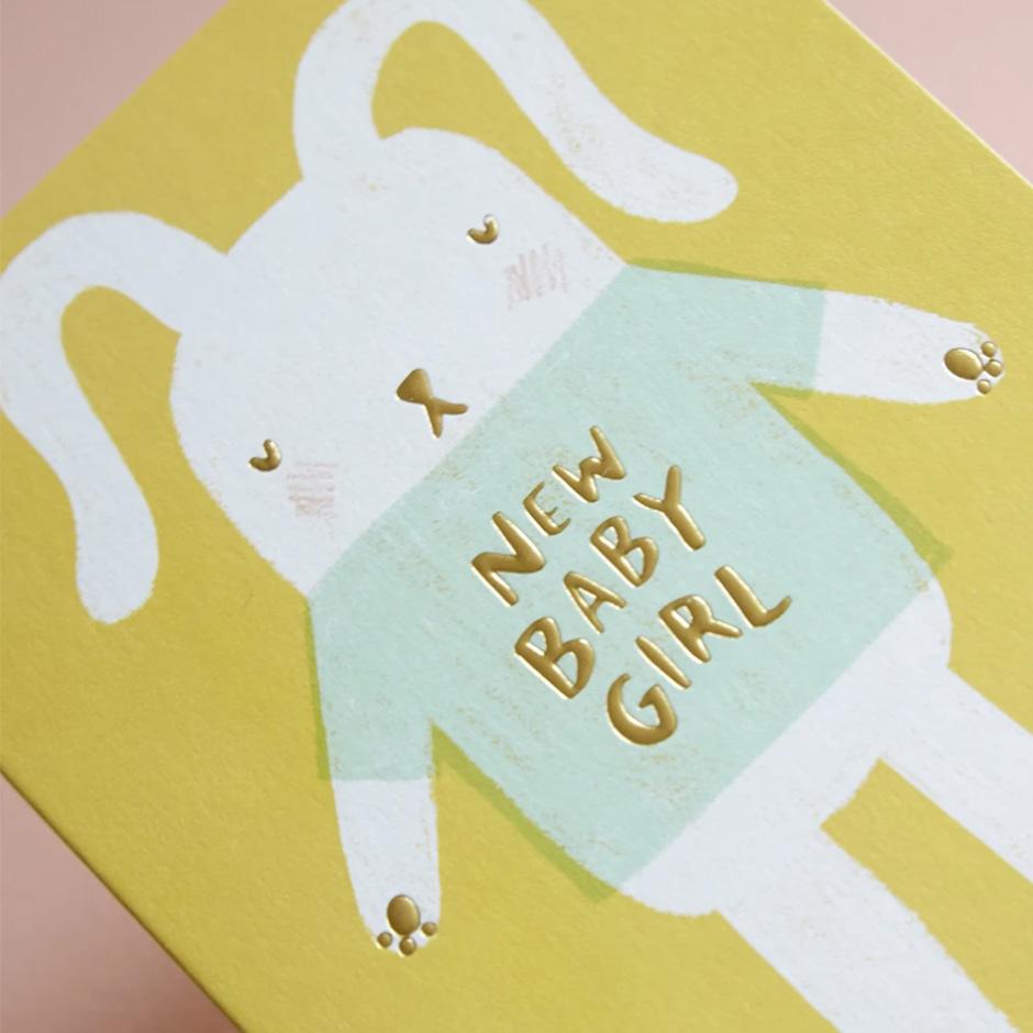 Raspberry Blossom - New Baby Girl Card