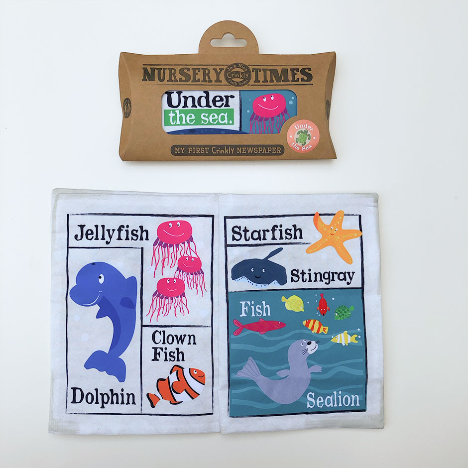 Crinkly Cloth Book - Under The Sea