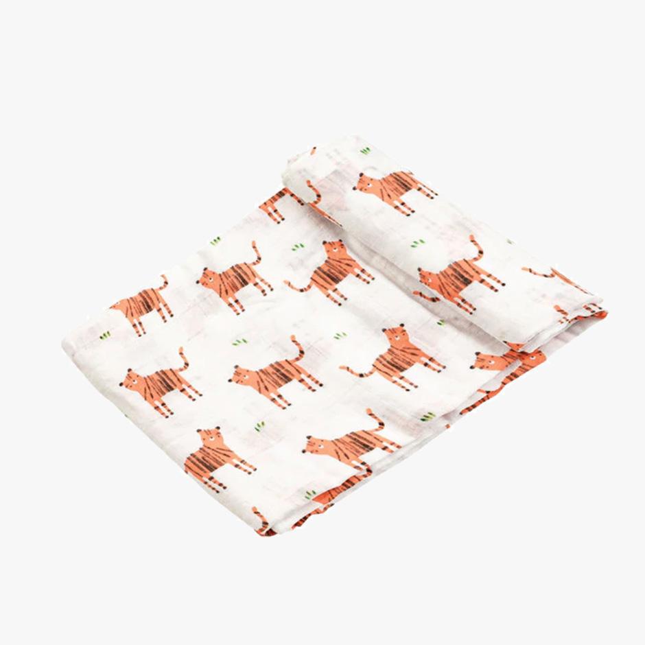 Angel Dear - Tigers Muslin Swaddle Blanket