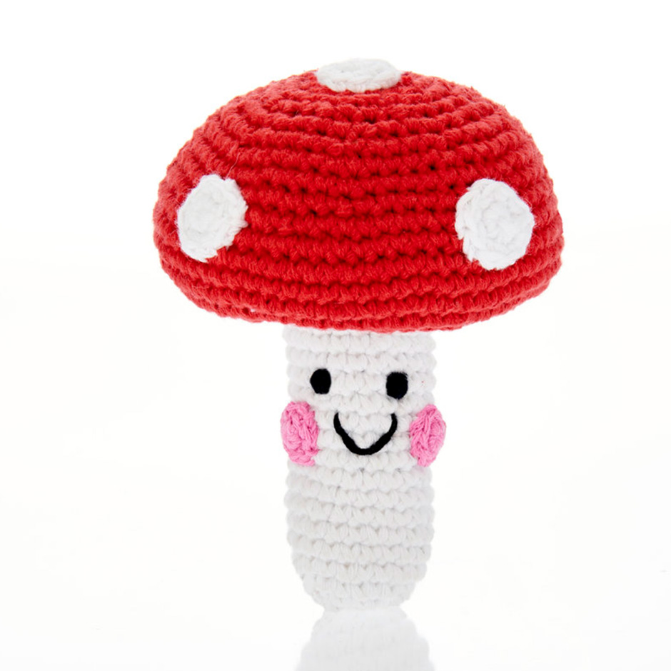 Pebble - Red Toadstool Rattle