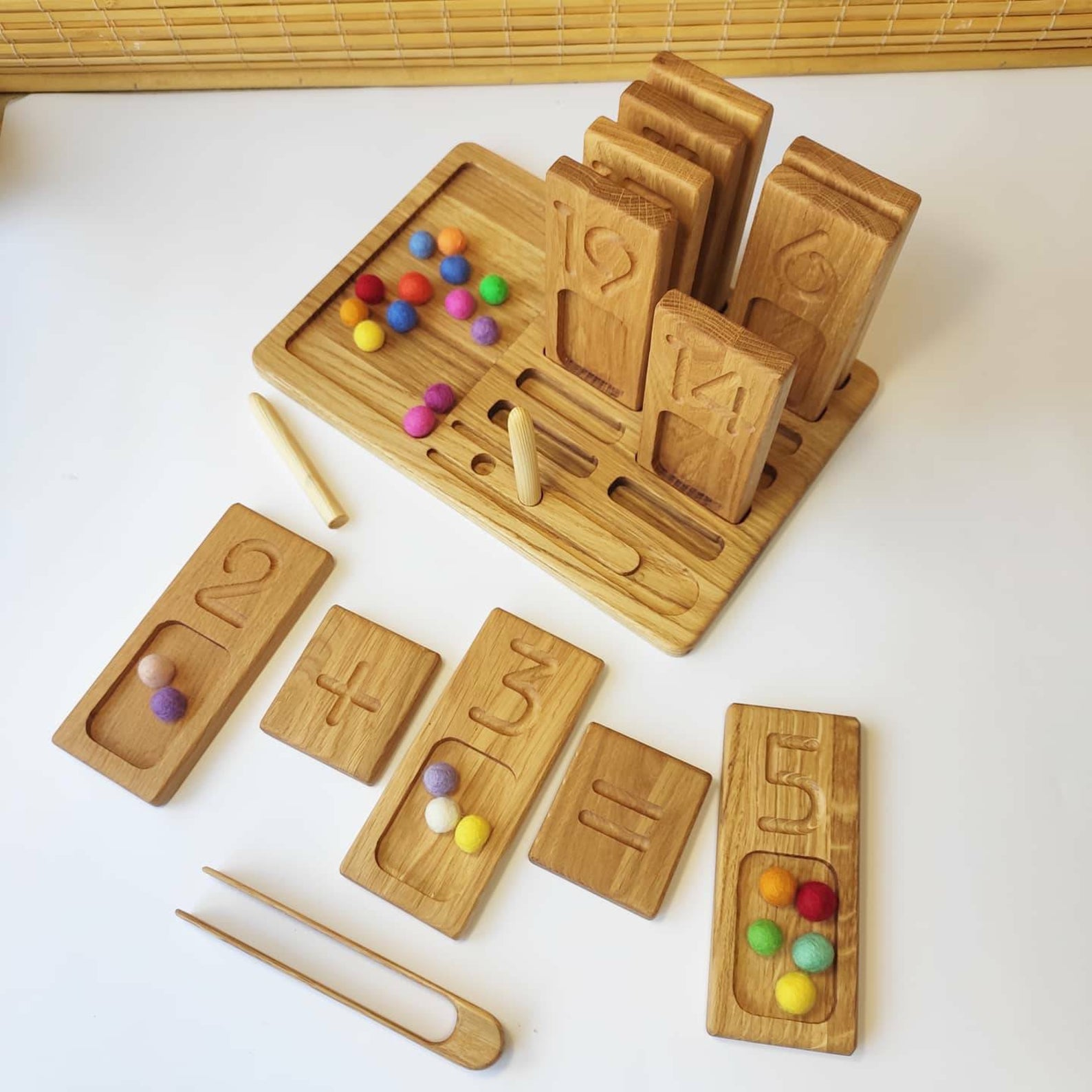 Three Wood - Reversible Number Trays 1-20
