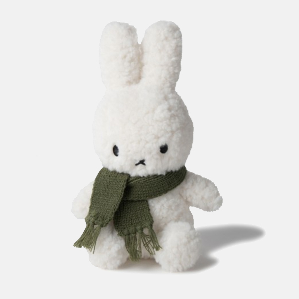 Holiday Miffy - Fluffy with Green Scarf