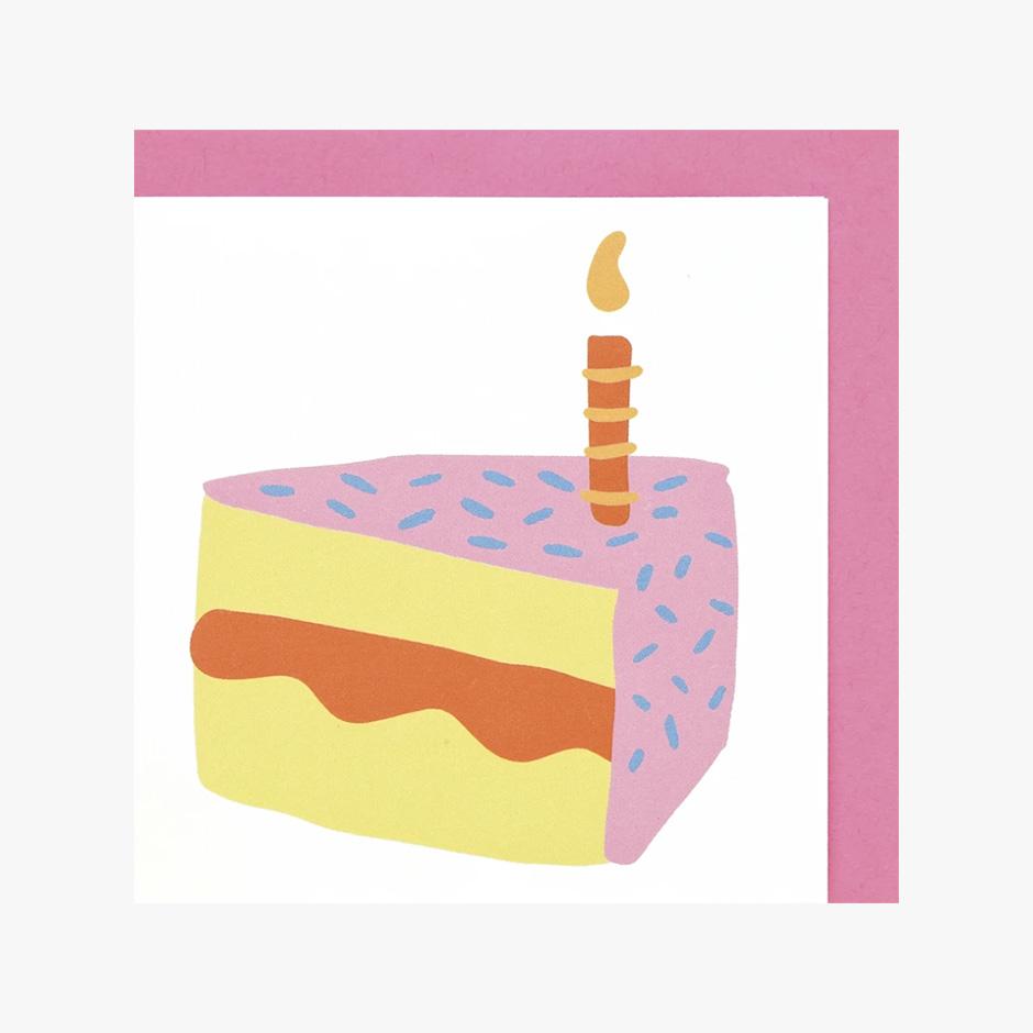 Raspberry Blossom - Dinky Cake Card