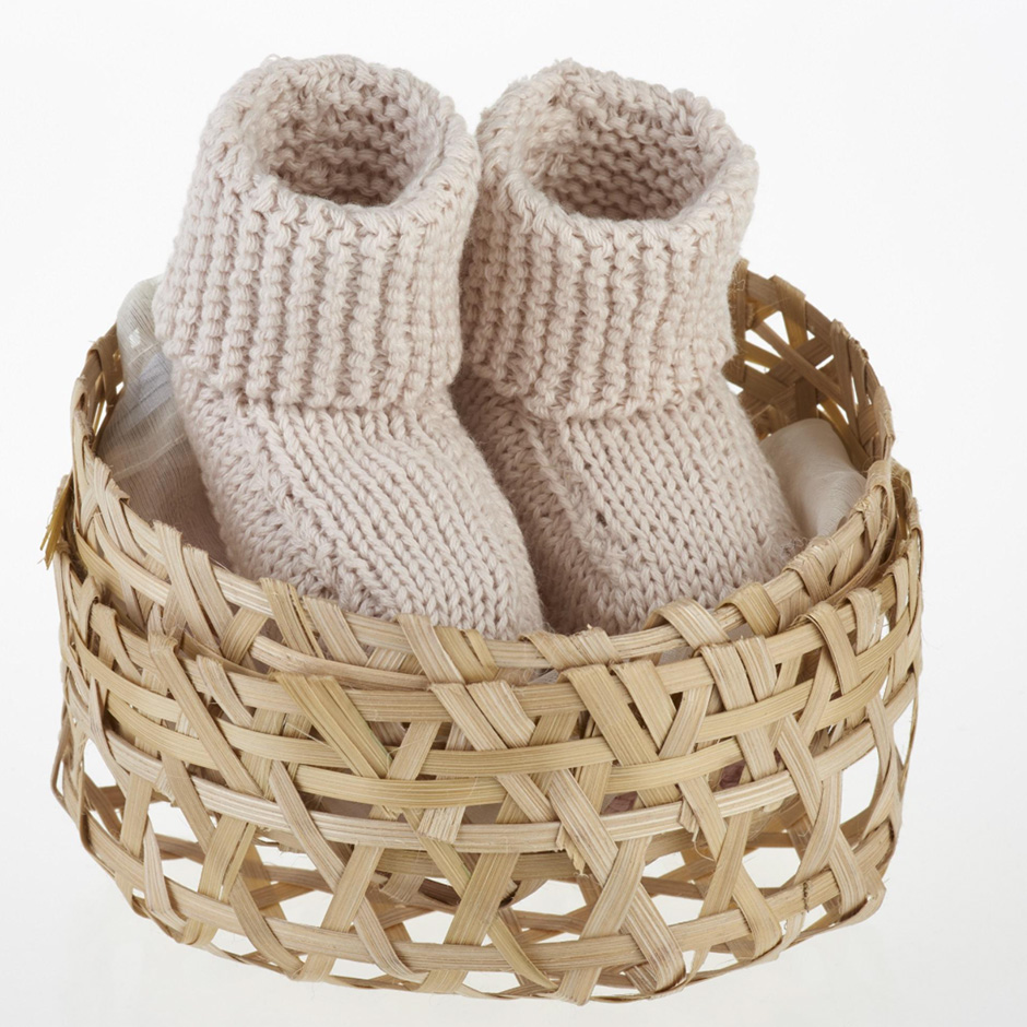 Pebble - Organic Cotton Knitted Booties