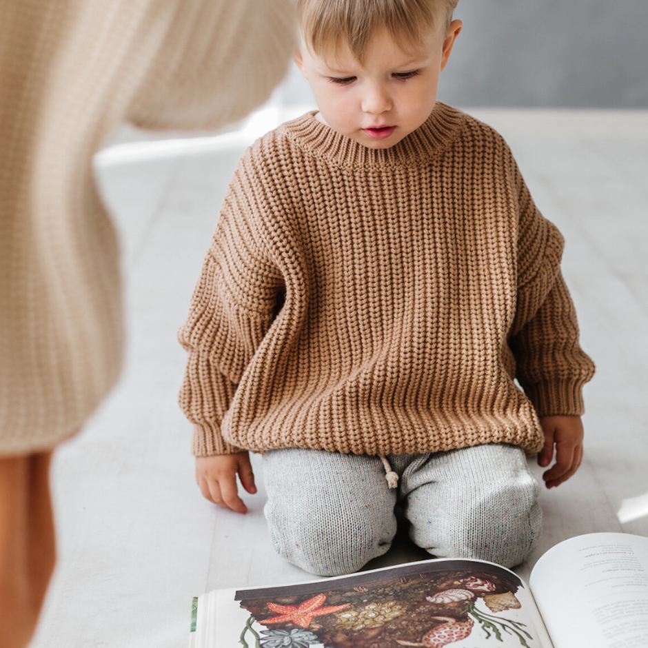 Kids of April - Toffee Chunky Sweater
