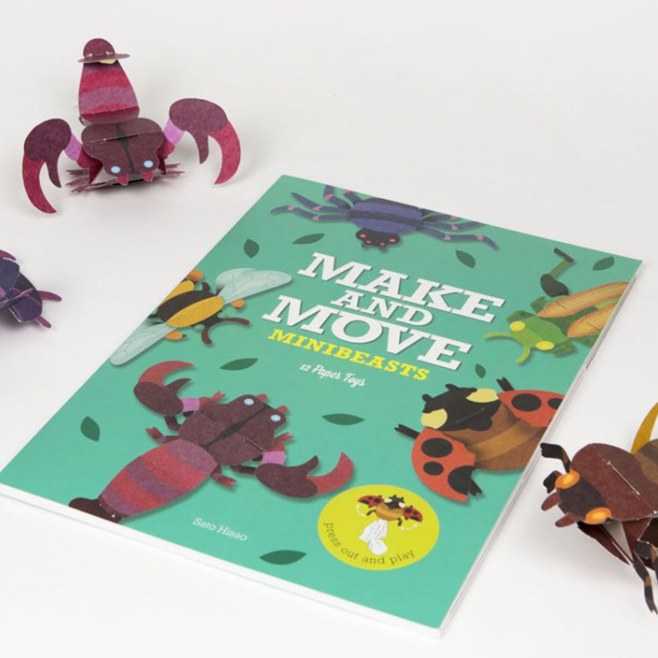 Make and Move Minibeasts - 12 Paper Toys