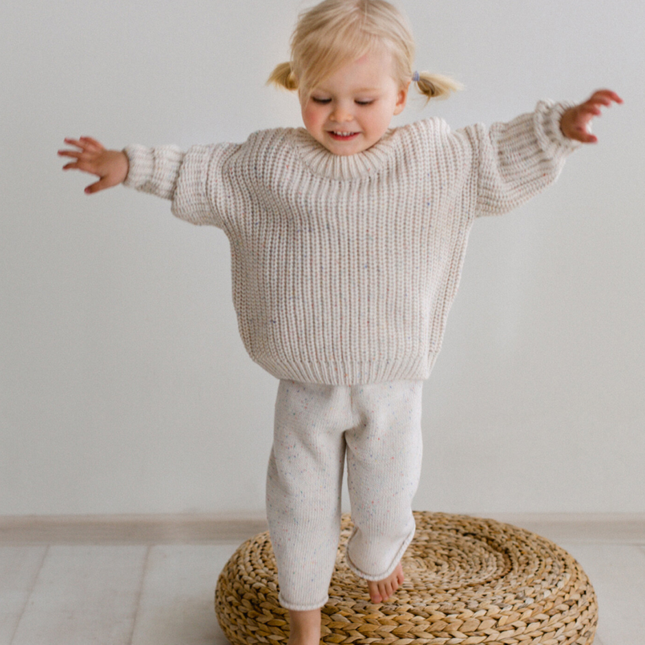Kids of April - Natural Speckle Chunky Sweater
