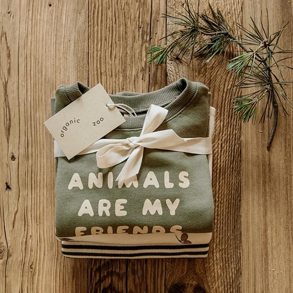 Organic Zoo - Animals Are My Friends Sweatshirt