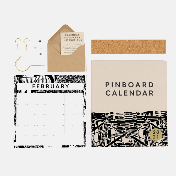 Studio Wald - 2021 Pinboard Calendar