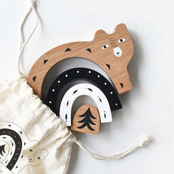 Wee Gallery - Bamboo Nesting Bear