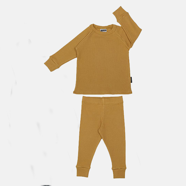 Cribstar - Ribbed Lounge Set Mustard