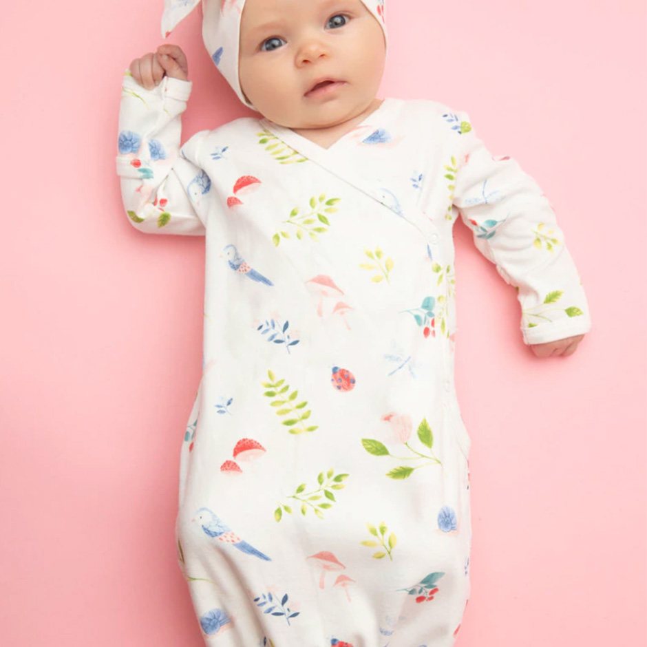 Angel Dear - Nature Newborn Knotted Gown