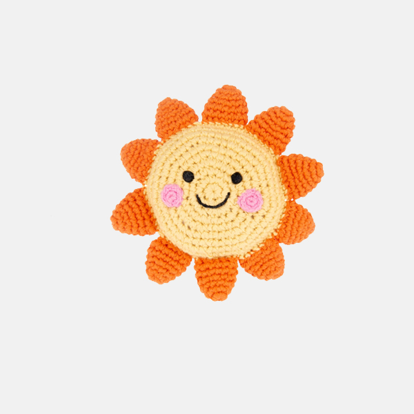 Pebble -  Fair Trade Crochet Sun Rattle