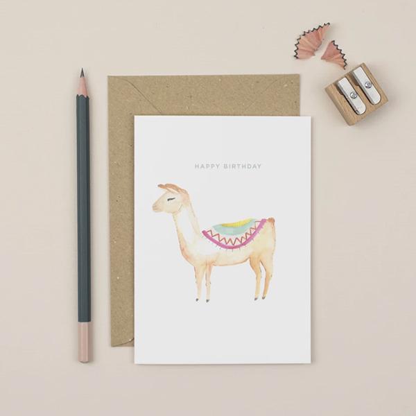 Plewsy - Birthday Llama Card