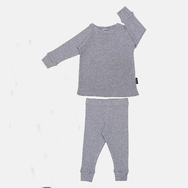 Cribstar - Ribbed Lounge Set Grey Melange