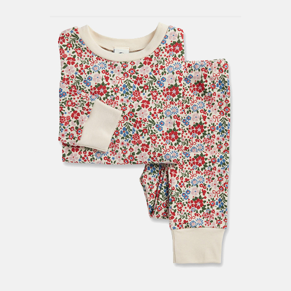 Sleepy Doe - Kids Classic PJ Set Winter Floral