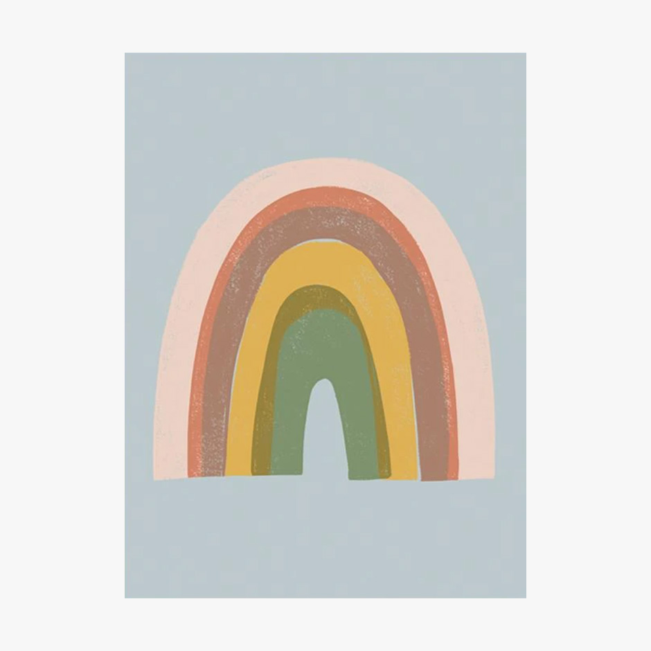 Raspberry Blossom - Rainbow Print Blue