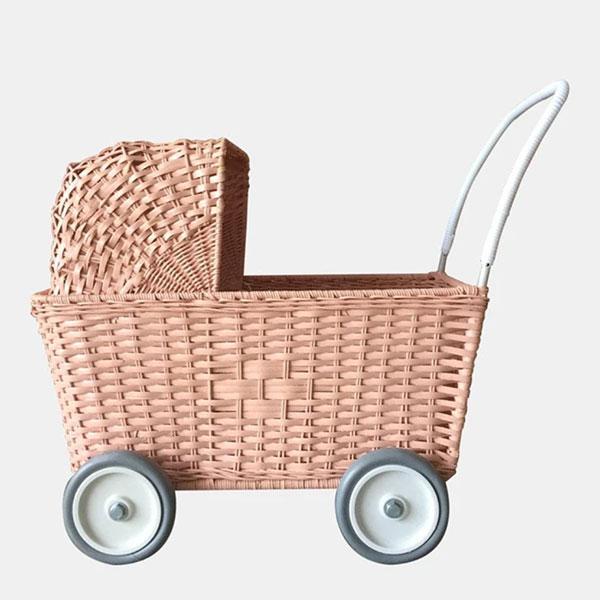 Olli Ella - Strolley Rattan Pram