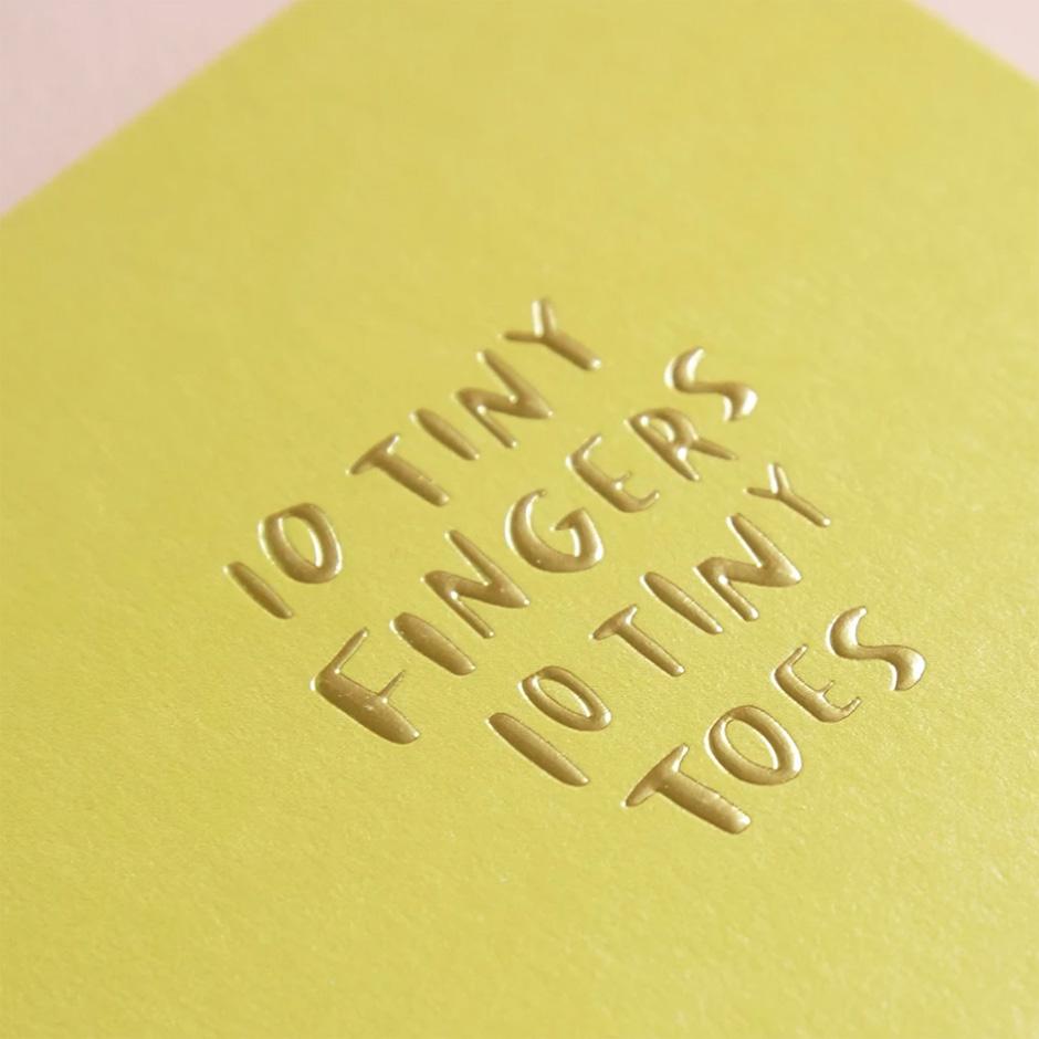 Raspberry Blossom - Ten Tiny Fingers Card