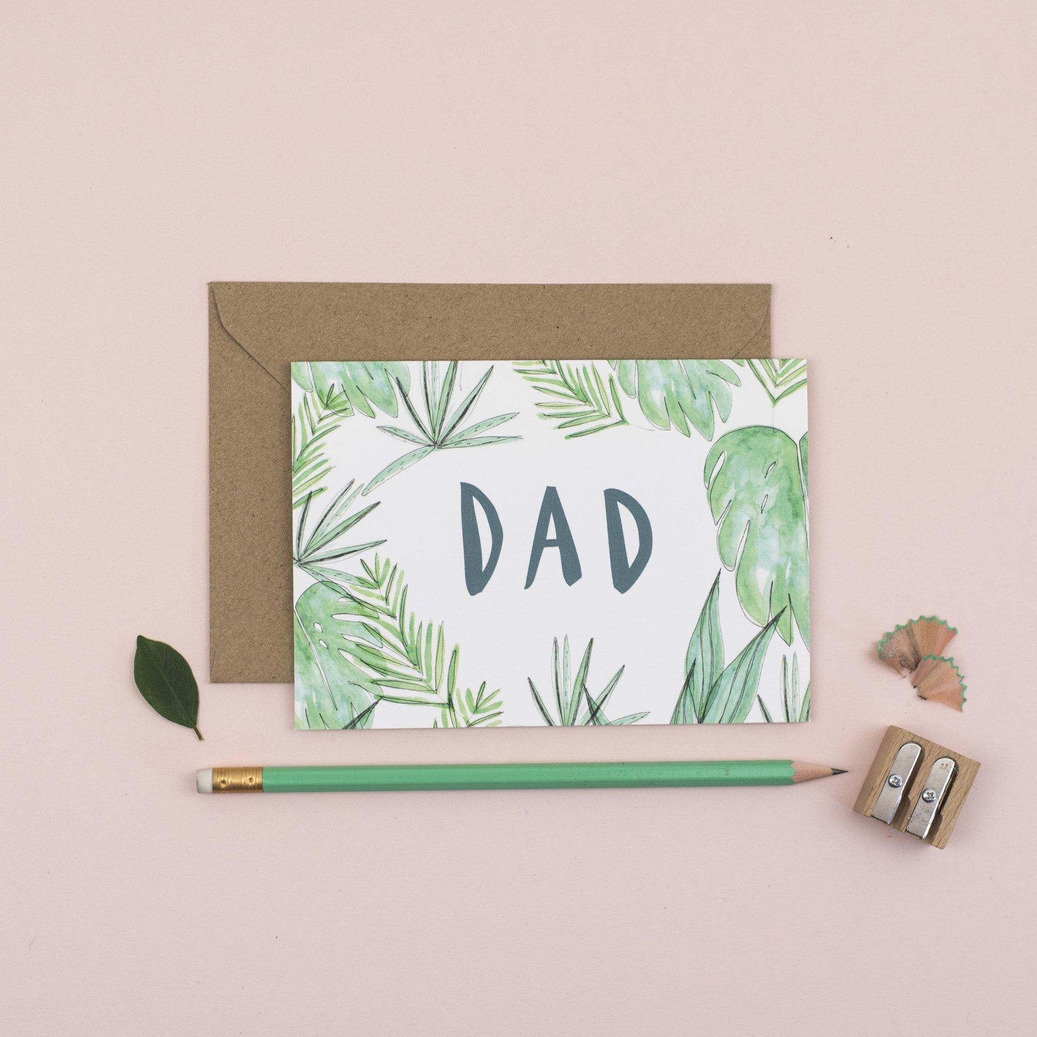 Plewsy - Dad Leaf Card